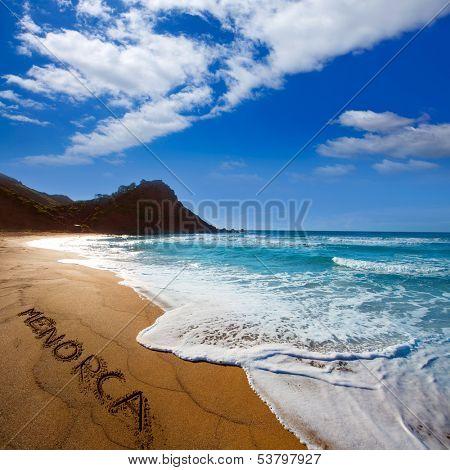 Cala Pilar beach in Menorca Alfuri de Dalt at Balearic Islands of Spain
