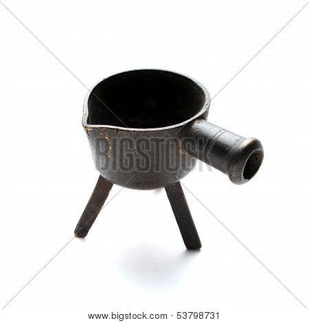 Antique Melting Pot For Metal