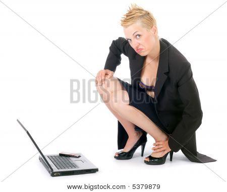 Punk Rock Business Woman
