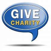 pic of generous  - Give charity button donate raise money to help donate gifts fundraising give a generous donation or help with the fundraise - JPG