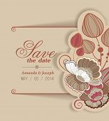 stock photo of decoupage  - Invitation in vector - JPG