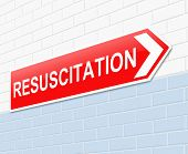 stock photo of resuscitation  - Illustration depicting a sign with a resuscitation concept - JPG