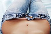 foto of belly-button  - Woman - JPG