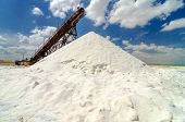 stock photo of salt mine  - Mountain of salt in Manaure in La Guajira Colombia - JPG
