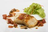 picture of halibut  - Grilled halibut with tomato concasse - JPG