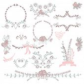 pic of floral bouquet  - wedding graphic set - JPG