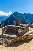 stock photo of cultural artifacts  - Inca Wall in Machu Picchu Peru South America - JPG