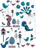 Постер, плакат: Птица Doodle