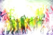 pic of groupies  - many people are dancing in a disco - JPG