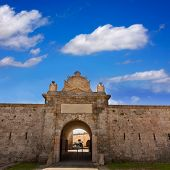 image of mola  - Menorca La Mola Castle fortress door in Mahon at Balearic islands - JPG