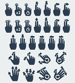picture of tapping  - Vector touch screen gestures icons - JPG