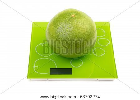 Sweetie Fruit On Square Kitchen Scales
