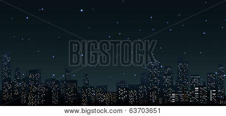 City skylines at night .urban scene
