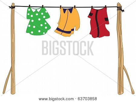 Clothes On A Rope