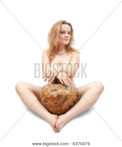 Nudity Girl With Jug