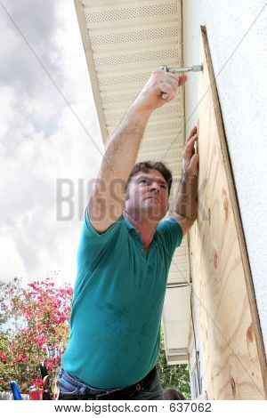 Hurricane Preparation - Attaching Plywood