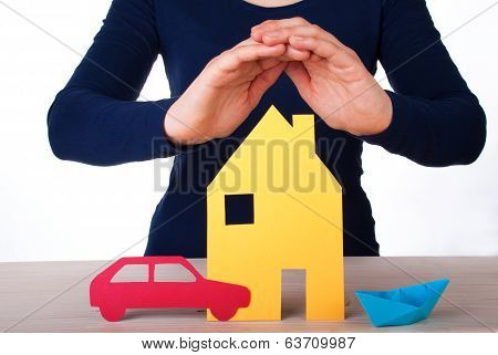 Hand Guarding House, Car, Boat
