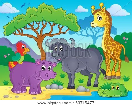 African fauna theme image 1 - eps10 vector illustration.