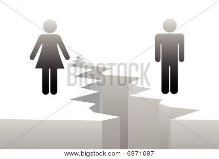 Man Woman Separation By Divorce Gender Gap