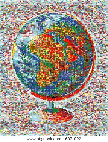 Flags Mosaic World