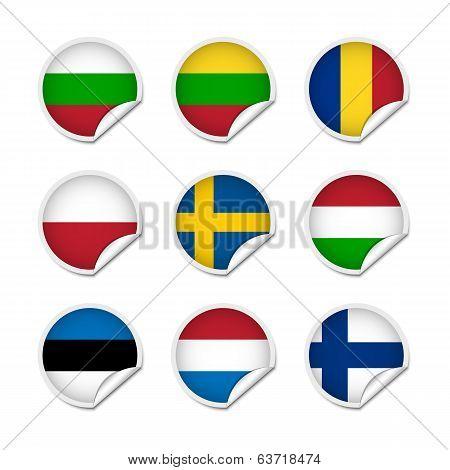 Flag Stickers Set 3