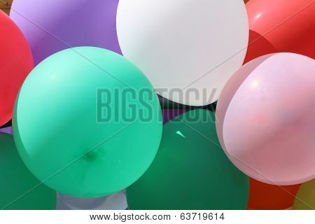 Bunch of Colored Balloons