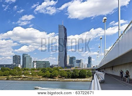 Skyline Of Danube City Vienna With The New Dc-tower