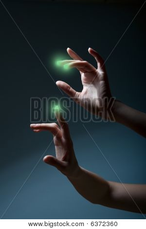 Fingers Pressing A Touchscreen