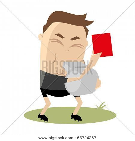 referee is showing a red card