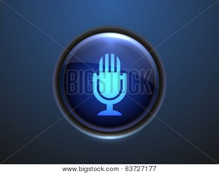 3d Vector illustration of mic icon
