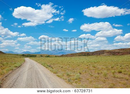 Dirt road in desert