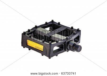 black cycling pedal