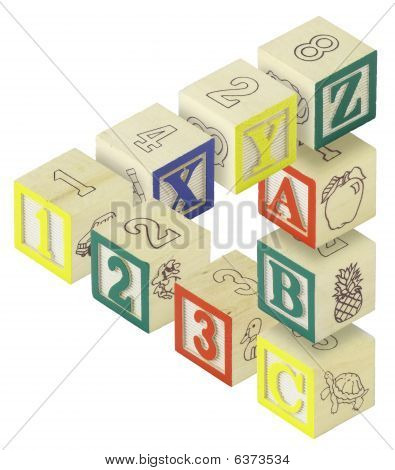 123 Abc Alphabet Blocks Optical Illusion