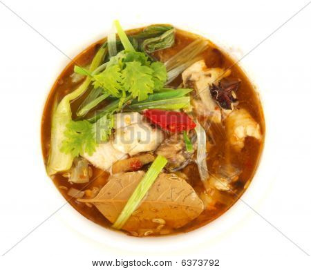 Traditional Chinese Fish soup