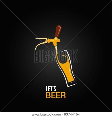 beer tap glass design background