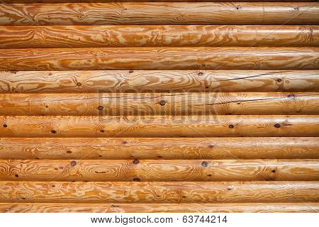 Timber Logs Wall Closeup Texture Pattern