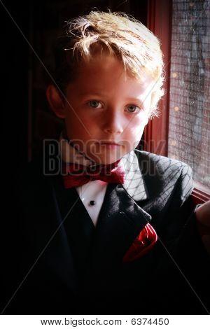 boy in tuxedo