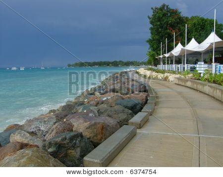 boardwalk on seaside