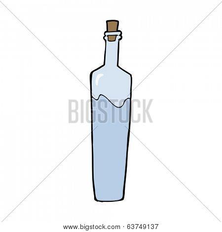 cartoon posh bottle
