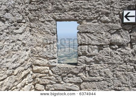 Window In The Wall Of The Castle