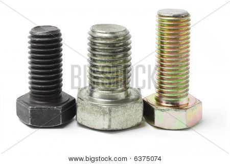 Three Used Bolts