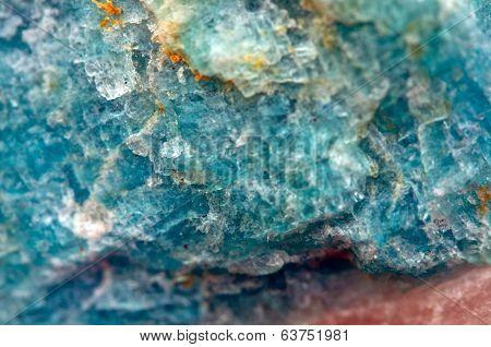 Turquoise  Crystal. Macro