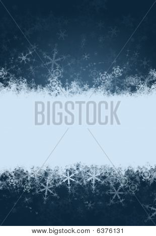 Snowflake Background With Space For Text
