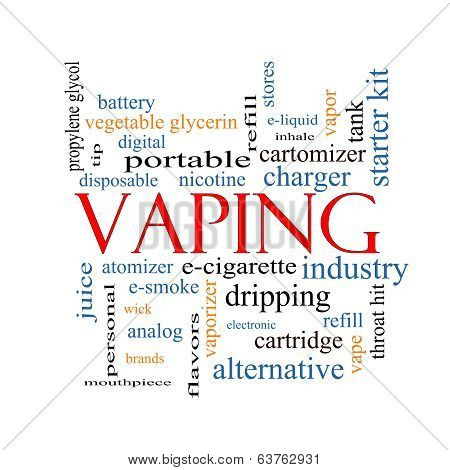 Vaping Word Cloud Concept