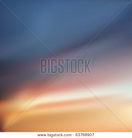 Sunset, dawn sky with colorful clouds
