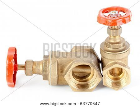 Valve water isolated on white background.