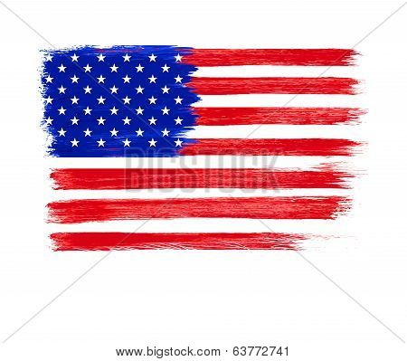 American Flag vector. Independence Day, 4 th July.