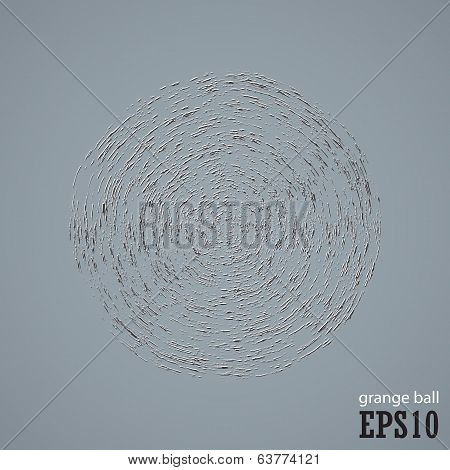 Abstract Shape Grunge Ball Background