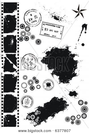 Set Of Grunge vector grunge elements