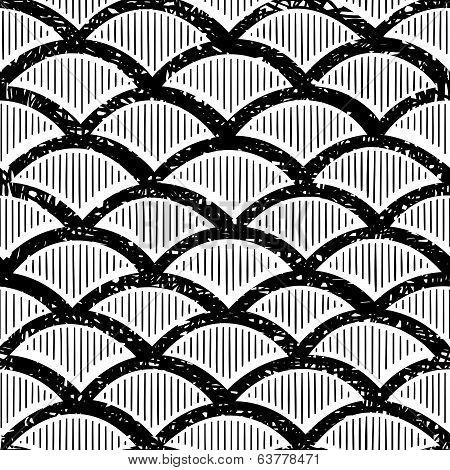 Vintage wave pattern